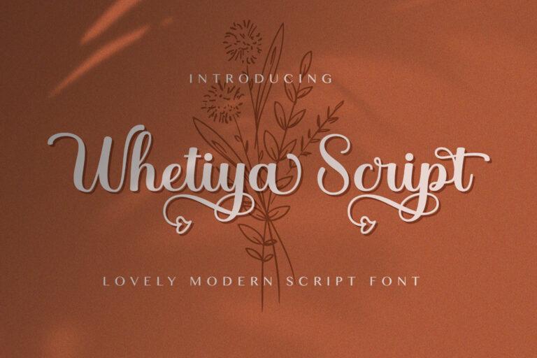 Preview image of Whetiya – Love Script Font