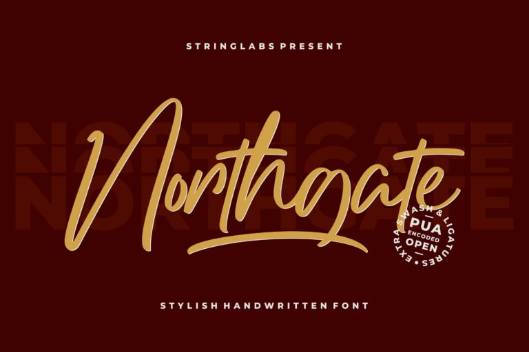 Preview image of Northgate – Stylish Handwritten Font