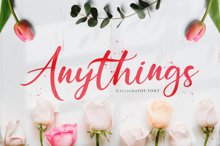 Preview image of Anythings – Calligraphy Font