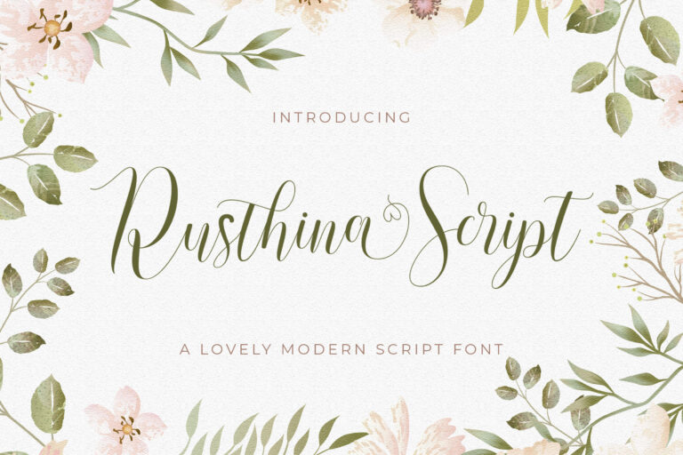 Preview image of Rusthina – Love Script Font