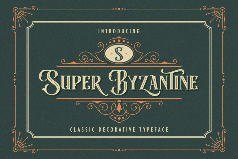 Preview image of Super Byzantine – Decorative Font