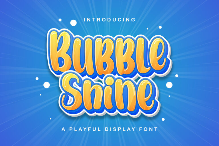 Preview image of Bubble Shine – Playful Display Font
