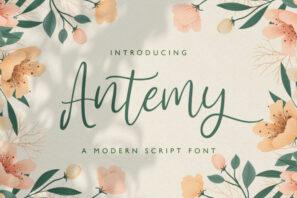 Antemy - Modern Script Font