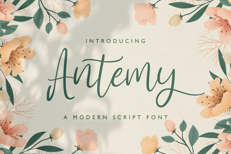 Preview image of Antemy – Modern Script Font
