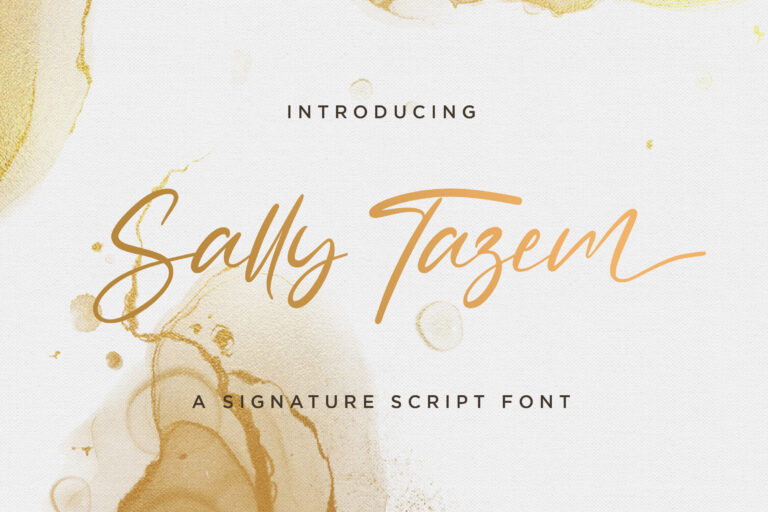 Preview image of Sally Tazem – Handwritten Font