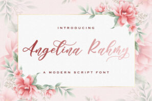 Angelina Rahmy - Modern Script Font