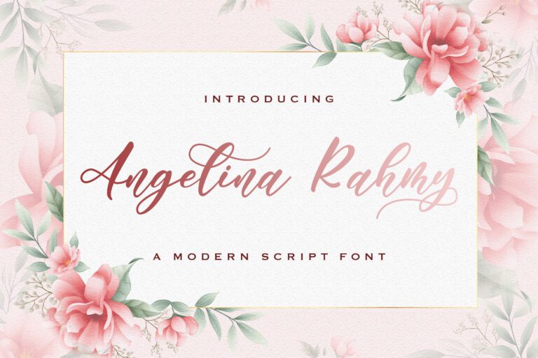 Preview image of Angelina Rahmy – Modern Script Font