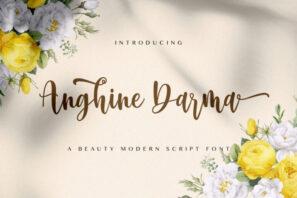 Anghine Darma - Modern Script Font
