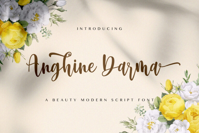 Preview image of Anghine Darma – Modern Script Font