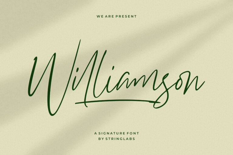 Preview image of Williamson – Luxury Signature Font