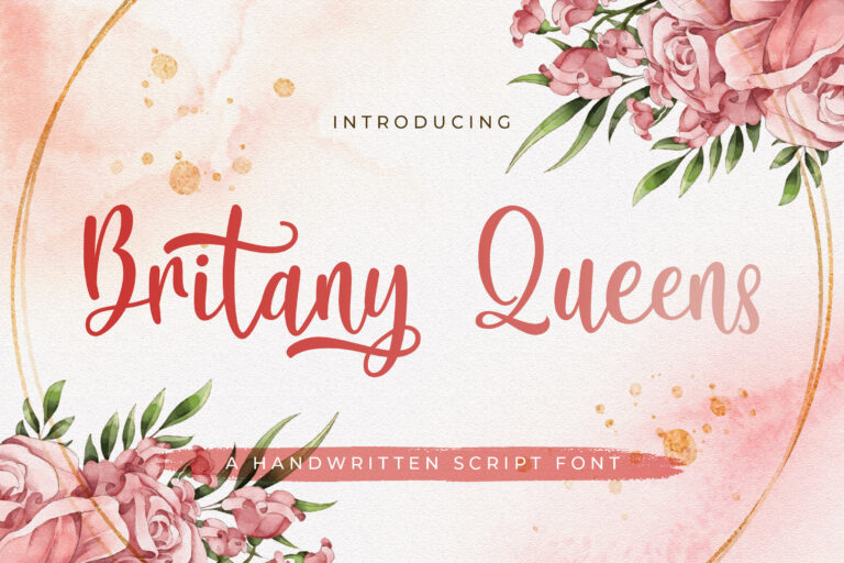 Preview image of Britany Queens – Handwritten Font