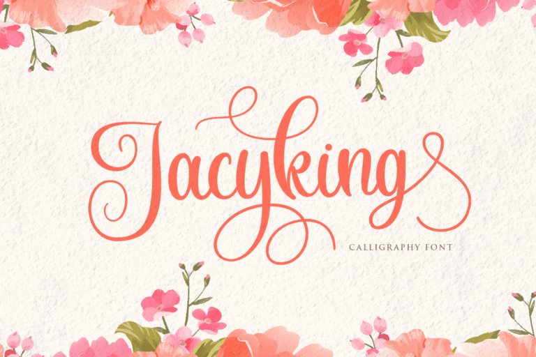 Preview image of Jacyking – Lovely Script Font