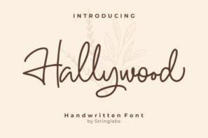 Hallywood - Handwritten Script Font