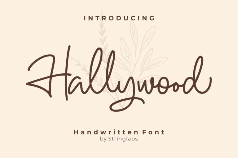 Preview image of Hallywood – Handwritten Script Font