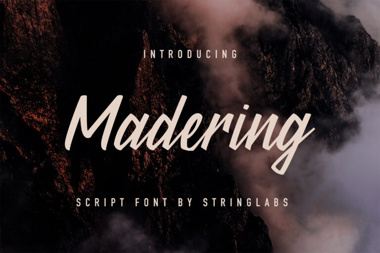 Preview image of Madering – Classy Script Font