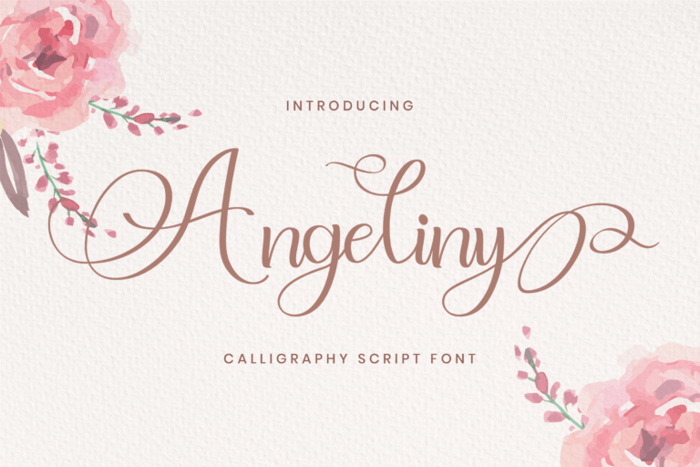 Preview image of Angeliny – Calligraphy Font