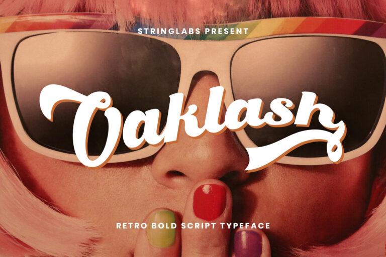 Preview image of Oaklash – Retro Bold Script Font