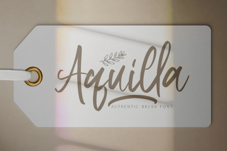 Preview image of Aquilla – Brush Script Font