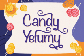 Candy Yefumy - Playful Display Font