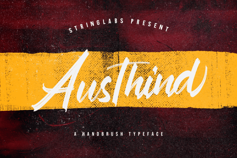 Preview image of Austhind – Stylish Brush Font