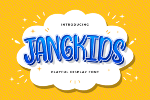 Jangkids - Playful Display Font
