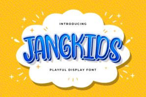 Jangkids - Playful Display Font