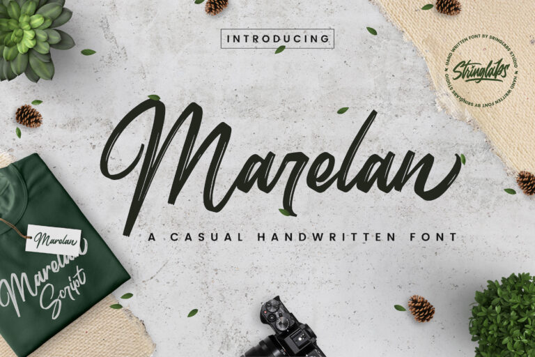 Preview image of Marelan – Casual Handwritten Font