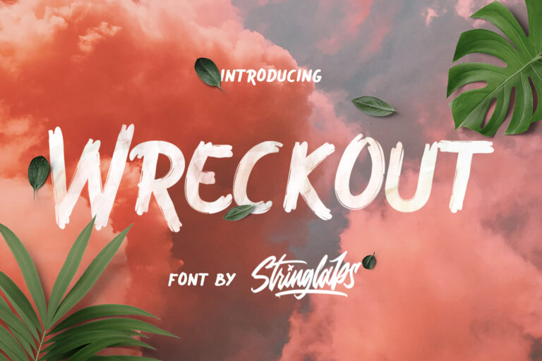 Preview image of Wreckout – Decorative Brush Font