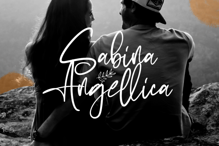 Preview image of Sabina Angellica – Modern Script Font