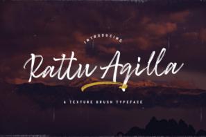 Rattu Aqilla - Textured Brush Font