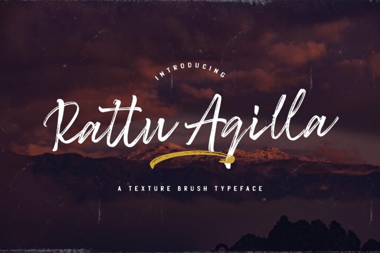 Preview image of Rattu Aqilla – Textured Brush Font
