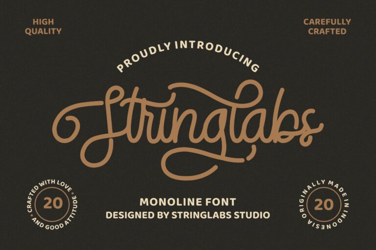 Preview image of Stringlabs Retro – Monoline Font