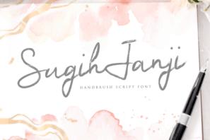 Sugih Janji - Handbrush Script Font