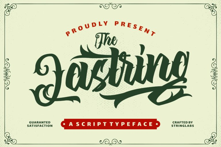 Preview image of The Lastring – Tattoo Script Font