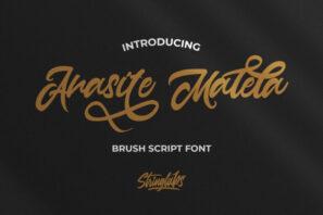 Anasite Malela - Bold Script Font
