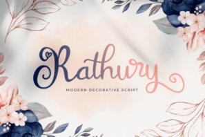 Rathury - Modern Decorative Script Font