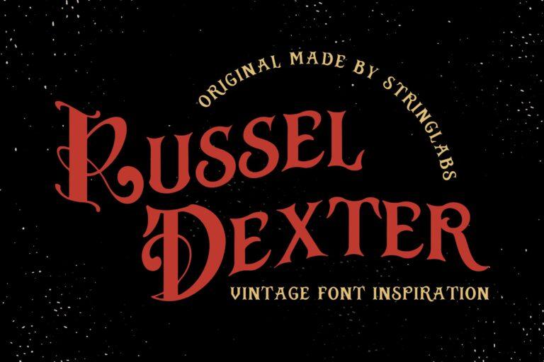 Preview image of Russel Dexter – Retro Vintage Font
