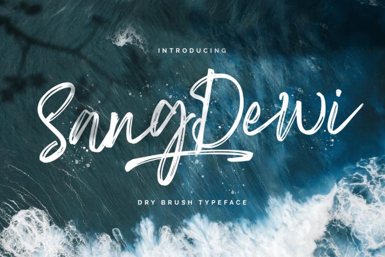 Preview image of Sang Dewi – Handbrush Script Font