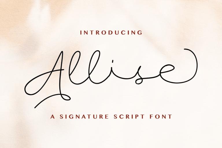 Preview image of Allise – Signature Script Font