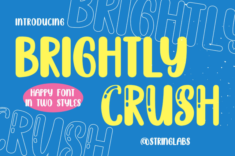 Preview image of Brightly Crush – Playful Typeface