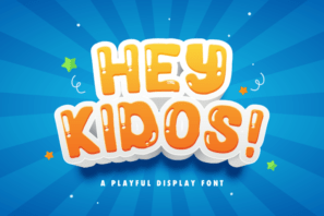 Hey Kidos! - Playful Display Font