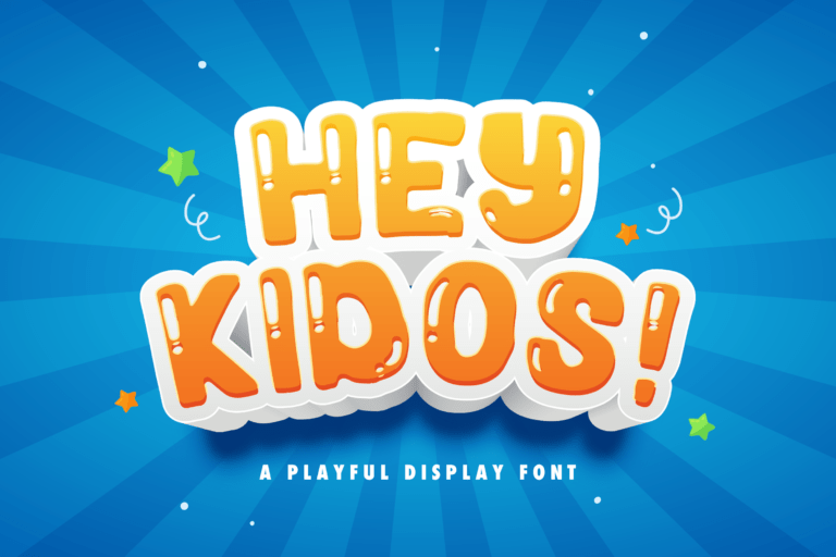 Preview image of Hey Kidos! – Playful Display Font