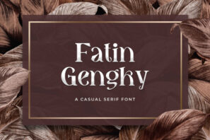 Fatin Gengky - Casual Serif Font