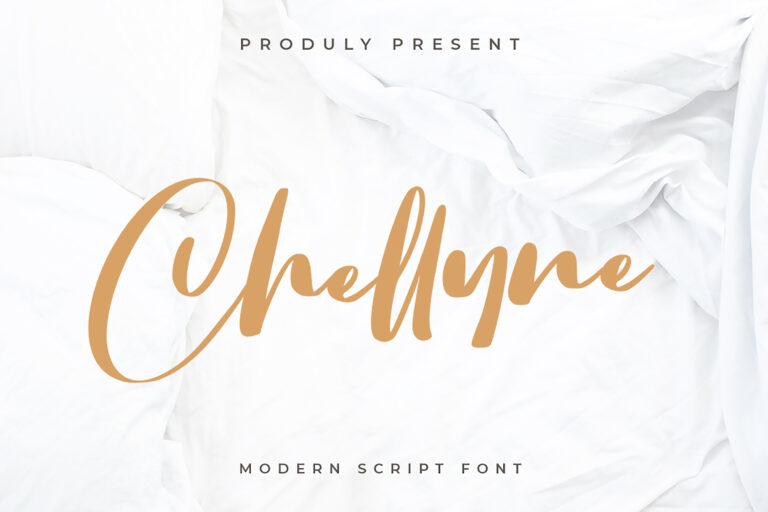 Preview image of Chellyne – Modern Script Font