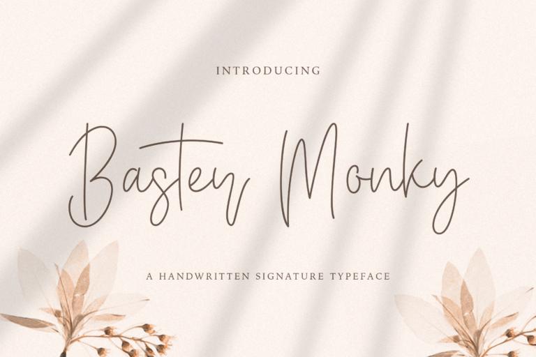 Preview image of Baster Monky – Monoline Script Font