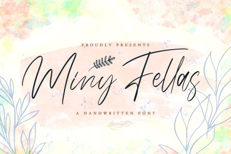 Preview image of Miny Fellas – Modern Handwritten Font