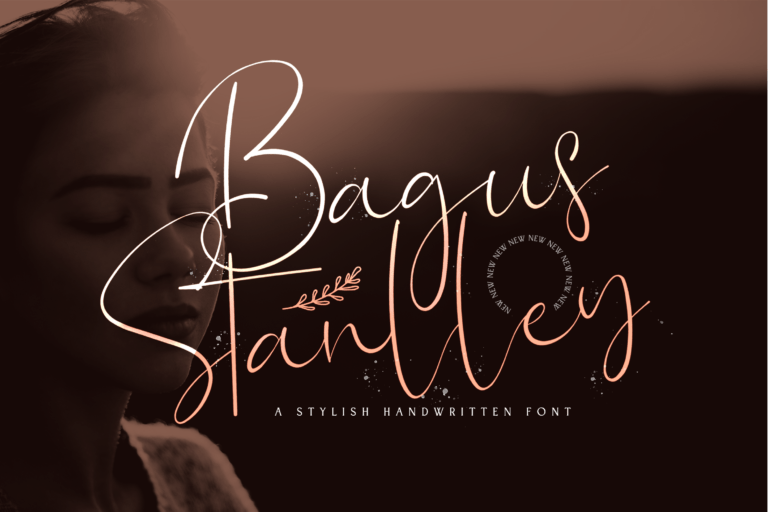 Preview image of Bagus Stanlley – Stylish Script Font