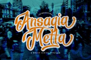 Ansagia - Bold Script Font