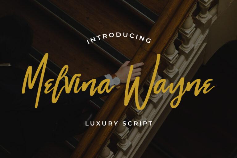Preview image of Melvina Wayne – Luxury Script Font