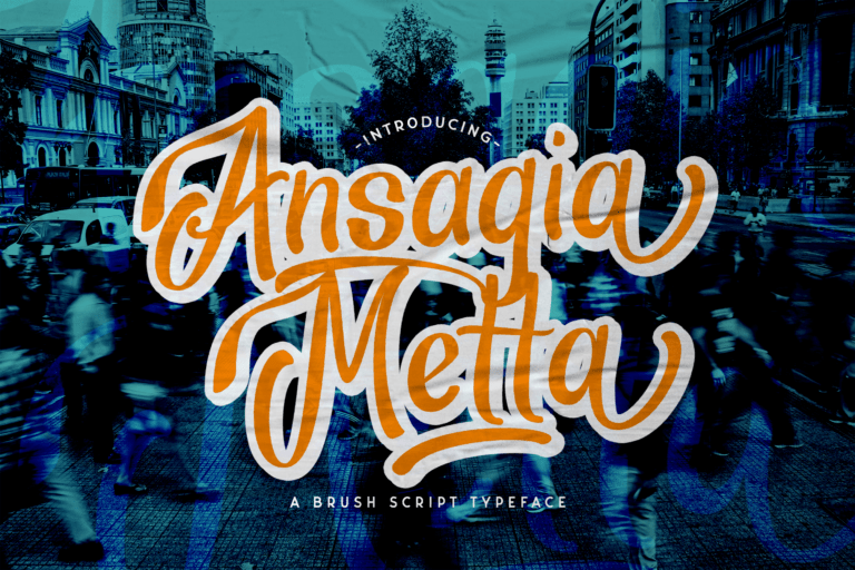 Preview image of Ansagia – Bold Script Font